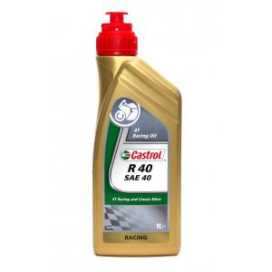 Huile Castrol R40 huile pure Ricin SAE 40 non miscible - bidon de 1L