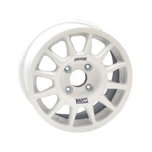 Jante Braid Fullrace TA Peugeot 7x15 4x108 ET28 65mm blanc