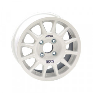 Jante Braid Winrace TA Peugeot 6x14 4x108 ET16 65mm blanc