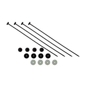 Kit installation ventilateur Comex et Spal par colliers plastiques