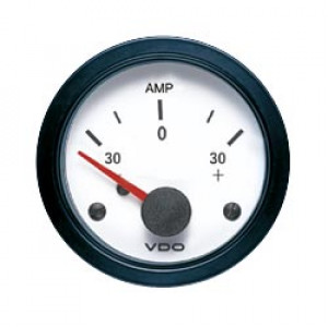 Mano ampèremètre -30/0/30 VDO blanc 52mm Vision (FIN DE SERIE)