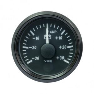 Mano ampèremètre 30 Ampères - VDO Singleviu - fond noir - 52mm