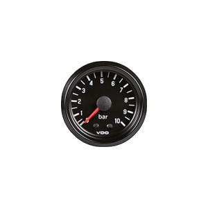 Mano pression d'huile - VDO - 10 bar - Inter - fond noir - 52mm
