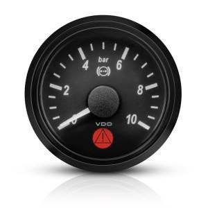 Mano pression frein VDO Singleviu 0-10 bars fond noir 52mm