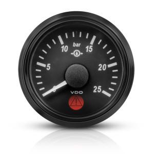 Mano pression huile de boîte VDO Singleviu 0-25 bars fond noir 52mm