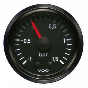Mano pression turbo - VDO - mécanique - -1>1.5 bar - Inter - noir
