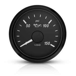 Mano temperature d'huile VDO Singleviu 50-150°c fond noir 52mm