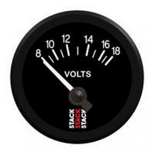 Mano voltmètre Stack 8/18V fond noir