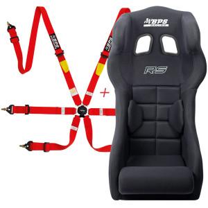 Pack siège baquet FIA BPS RS + Harnais FIA BPS 2x2x2