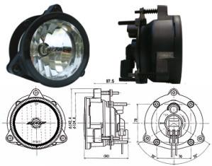 Phare Longue Portée IPF 985 H9 Diamètre 107mm sans ampoule