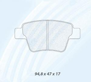 Plaquettes Carbone Lorraine Mitsubishi EVO 8/9 KIT BREMBO GN - AR RC8R