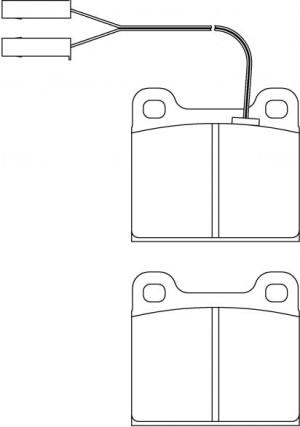 Plaquettes de frein Ferodo DS Perf AUDI 80 1.3 40/44kW 1966>72 Av FDS2