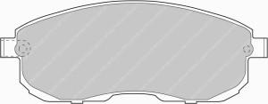 Plaquettes de frein Ferodo DS Perf CHEVROLET Corvette AN 01-97>12-01