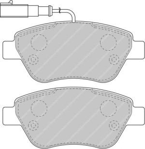Plaquettes de frein Ferodo DS Perf FIAT 500 tout type avant FDS1466