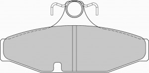Plaquettes de frein Ferodo DS Perf FORD Fairlane AUII AN 01-99>12-03