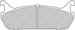 Plaquettes de frein Ferodo DS Perf MAZDA 323 1.6 84 89>91 Ar FDS654
