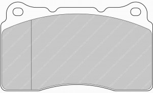 Plaquettes de frein Ferodo DS Perf SUBARU Impreza II 2.0 WRX AN 11-01>