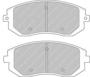 Plaquettes de frein Ferodo DS Perf Subaru tout type Avant FDS1639