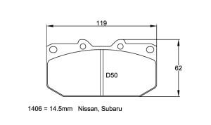 Plaquettes de frein Pagid RS14 Mitsubishi 3000 GT VR4 Année 92-99 AV