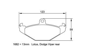 Plaquettes de frein Pagid RS42 Dodge Viper Année 92-00 Arrière