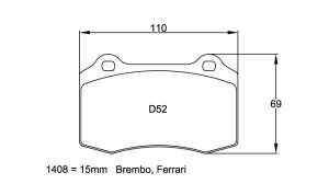 Plaquettes de frein Pagid RS42 Dodge Viper Année 92-00 Avant