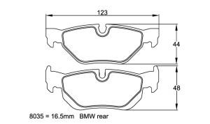 Plaquettes de frein Pagid RS44 BMW 120d & 130i Année 03-12  Arrière