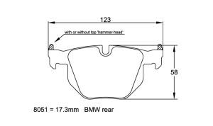 Plaquettes de frein Pagid RSL19 BMW 335i , 335d E90/E91/E92 AN 06- AR