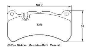 Plaquettes de frein Pagid RSL19 Lexus IS-F Année 08-11 Avant