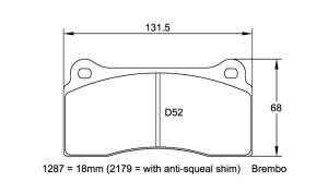 Plaquettes de frein Pagid RSL29 Aston Martin Vanquish Année 03- Avant