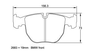 Plaquettes de frein Pagid RSL29 BMW M5 E39 Année 98-03 Avant
