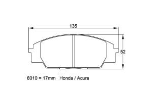 Plaquettes de frein Pagid RSL29 Honda Civic Type R S2000 AN99-05 AV