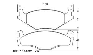 Plaquettes de frein Pagid RSL29 VW Polo (6N) 1.3i & 1.4i 94 - 99 AV