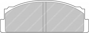 Plaquettes Ferodo DS2500 FCP22 Autobianchi A111 Fiat X 1 9 Ar fines