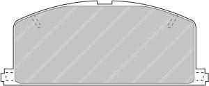 Plaquettes Ferodo DS2500 FCP308 Toyota Celica 2.0 85->90 Av