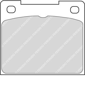 Plaquettes Ferodo DS2500 FCP809 Citroen C2 R2 206 S1600 208 R2 Ar