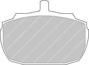 Plaquettes Ferodo DS2500 MG MGR V8 3.9 16V AN 10-92 > 12-95 AV