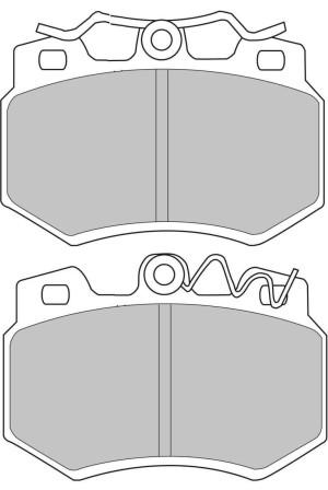 Plaquettes Ferodo DS3000 FCP434 Citroen Visa / Ax GTi / Peug 205 AV