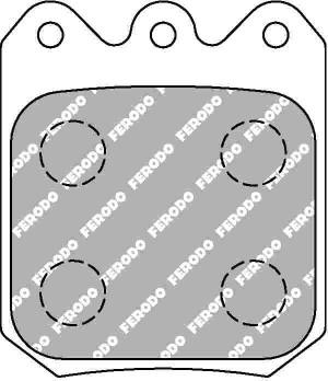 Plaquettes Ferodo DS3000 FRP3104 Wilwood Dynalite Single Floater
