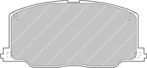 Plaquettes Ferodo DS3000 TOYOTA Celica 2.0 GT 16V AN 01-90 > 03-94 AV