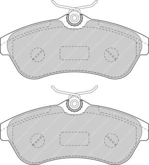 Plaquettes Ferodo DS Perf FDS1543 Citroen C2 VTS >03 / C3 Av