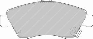 Plaquettes Ferodo DSUNO FCP776 Honda Civic VTI EK4 EG6 Av