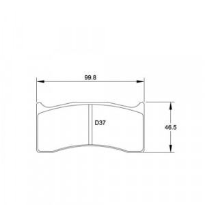 Plaquettes Pagid RSL29 étriers Alcon, BREMBO 07.7881 16 mm
