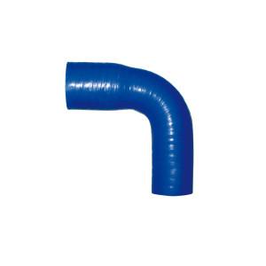 Reducteur silicone Venair 38x32mm - coloris bleu - coudé 90°