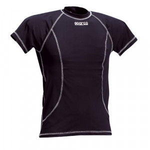 T-Shirt Sparco Basic polyester manches courtes slim fit karting