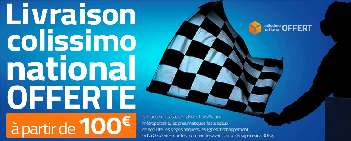 Livraison colissimo national offerte à partir de 100 euros d'achat
