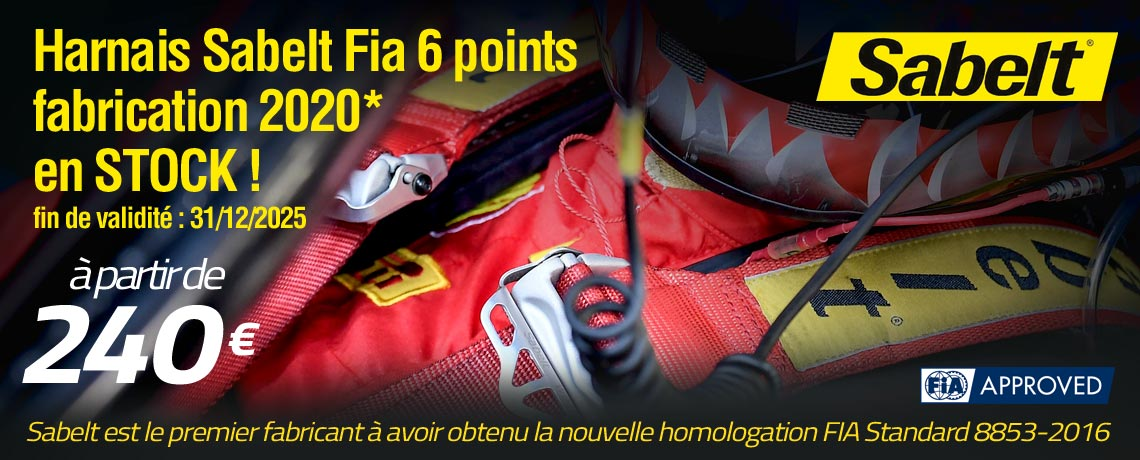 Harnais FIA 6 points SABELT