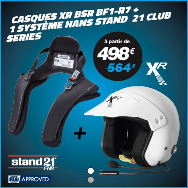 Offre duo casques XR + systeme hans stand 21 club series