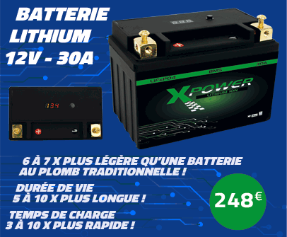 Batterie Lithium Xpower 30A 12V