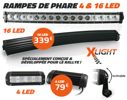 Rampes de phare 16 et 4 led Xlight