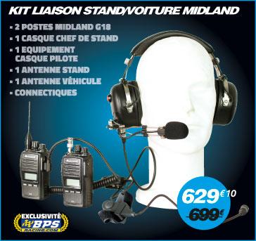Kit de liaison stand voiture Midland